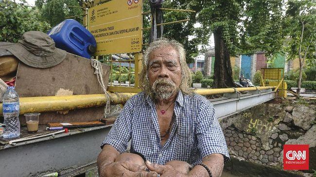 Nursaman (68) gelandangan yang ditemui Risma di Thamrin menetap di Manggarai, Jakarta Selatan.