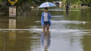 FOTO: Banjir Rendam 4 Daerah di Malaysia saat Pandemi Covid