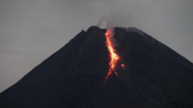 Gunung Merapi di perbatasan Jawa Tengah dan Daerah Istimewa Yogyakarta (DIY) masih mengalami erupsi.