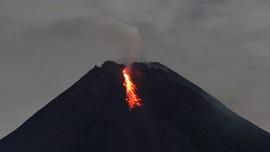 Gunung Merapi 12 Kali Gugurkan Lava Pijar Jarak Luncur 1,2 KM