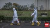Sejumlah pasien Covid-19 dengan kategori Orang Tanpa Gejala (OTG) menjalankan isolasi mandiri di Graha Wisata Ragunan, Jakarta Selatan.