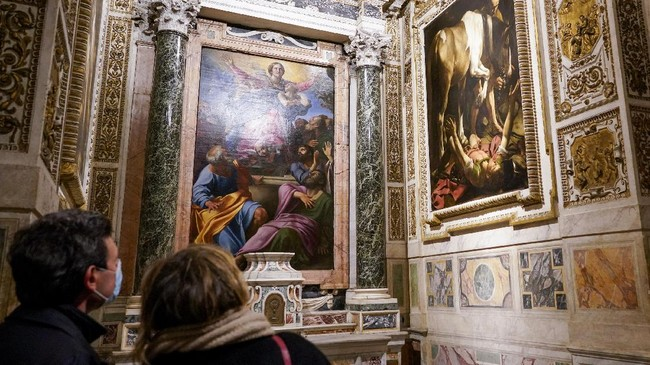 Berbagai museum dan galeri seni di Roma, Italia, harus menggelar tur virtual selama masa pandemi Covid-19.