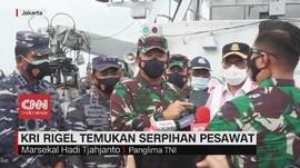 VIDEO: KRI Rigel Temukan Serpihan Pesawat