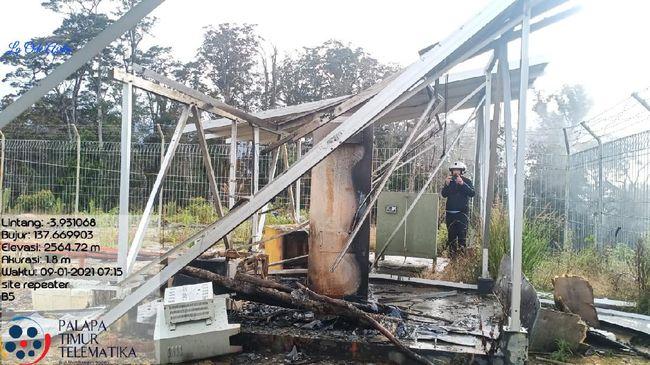 Vandalisme terhadap fasilitas Palapa Ring Timur terjadi sejak akhir 2019 hingga 2021 di Papua, negara rugi ratusan miliar.