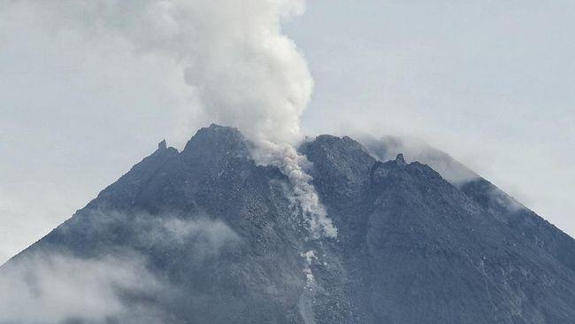 Gunung Merapi mengeluarkan delapan kali guguran awan panas pada Rabu (20/1).