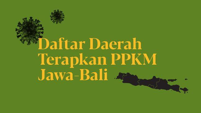 INFOGRAFIS: Daftar Daerah Terapkan PPKM Jawa-Bali