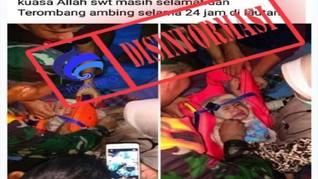 Bayi Selamat dari Kecelakaan Sriwijaya Air, Hoaks