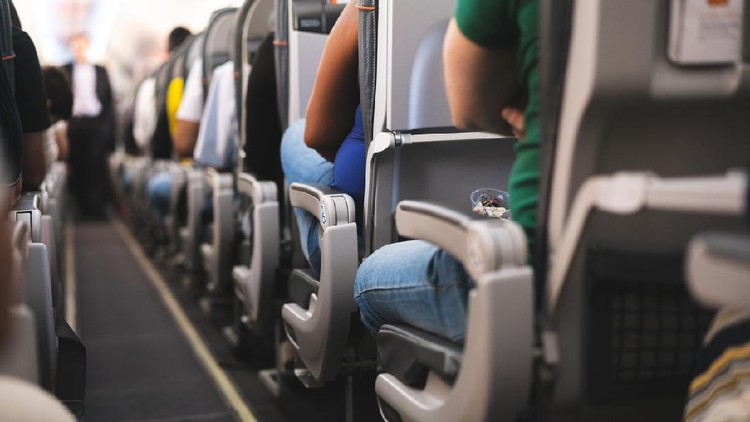 Air Vehicle, Airplane, Commercial Airplane, Luggage, People