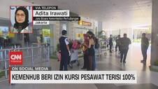 VIDEO: Kemenhub Beri Izin Penumpang Pesawat Terisi 100%