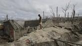 Perkampungan di kaki Gunung Taal, Filipina, kini tidak lagi dihuni setelah erupsi pada 12 Januari 2020.