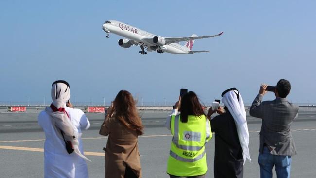 FOTO: Penerbangan Tanda Perdamaian Qatar- Arab Saudi