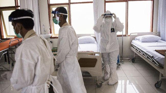 Keterisian tempat tidur RS rujukan covid-19 di Jakarta diklaim melandai hingga di angka 40 persen.