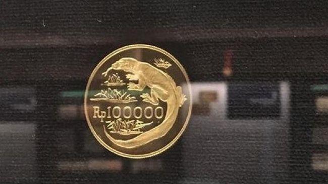 BI menerbitkan uang logam berbahan emas dalam rangka memperingati peristiwa penting. Uang logam emas ini dicetak dalam jumlah terbatas.