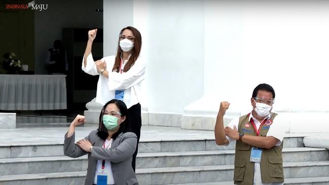 Pemerintah Indonesia memulai rangkaian vaksinasi covid-19 sebagai ikhtiar bangsa untuk keluar dari krisis pandemi covid-19.