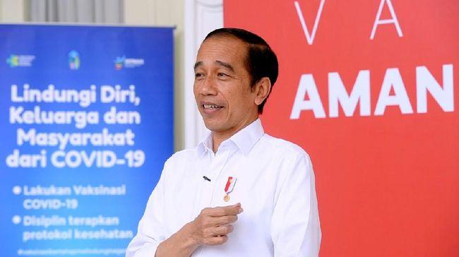 Presiden Jokowi mengatakan semua orang yang divaksinasi bakal diberi kartu berisi jadwal penyuntikan selanjutnya.