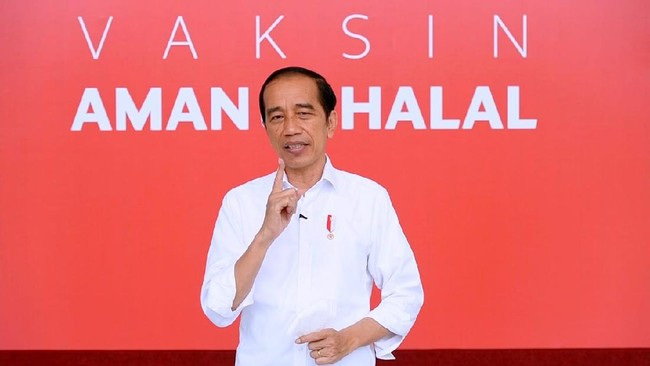 Jokowi Targetkan Vaksinasi 1 Juta Orang Per Hari