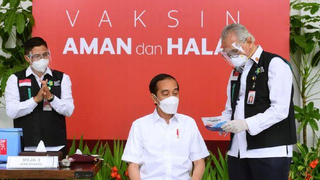 Presiden Jokowi membahas kelanjutan pembentukan LPI dengan Menteri Keuangan Sri Mulyani dan Menteri BUMN Erick Thohir usai melaksanakan vaksinasi virus corona.