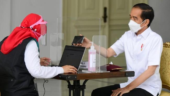 Jokowi Terima Dosis Kedua Vaksin Corona