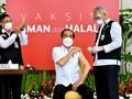 FOTO : Suntik Perdana Vaksin Covid-19 di Indonesia