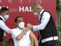 VIDEO: Jokowi, Orang Pertama di RI Divaksin Covid