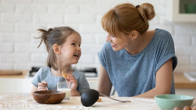 Ilustrasi anak makan
