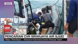 VIDEO: Pencarian CVR Sriwijaya Air SJ182