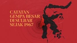 INFOGRAFIS: Catatan Gempa Besar di Sulbar Sejak 1960an