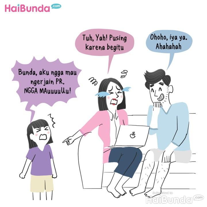 Komik Bunda, (Masih) Sekolah Online