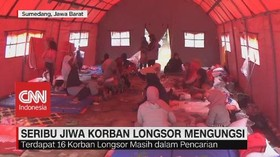 VIDEO: Seribu Jiwa Korban Longsor Mengungsi