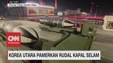 VIDEO: Korea Utara Pamerkan Rudal Kapal Selam