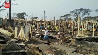 VIDEO: Kebakaran di Kamp Rohingya Hanguskan 500 Rumah