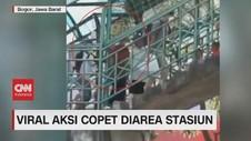 VIDEO: Viral, Aksi Copet Robek Tas di Atas Jembatan