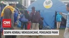 VIDEO: Gempa Kembali Mengguncang, Pengungsi Panik