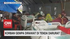 VIDEO: Korban Gempa Dirawat di Tenda Darurat