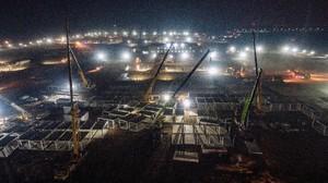 FOTO: China Bangun Pusat Karantina 1.500 Kamar dalam 5 Hari