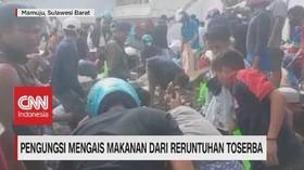 VIDEO: Pengungsi Mengais Makanan Dari Reruntuhan Toserba