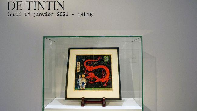Rumah lelang Artcurial baru saja melepas lukisan orisinal karya penulis kartun Tintin, Herge senilai Rp54 miliar.