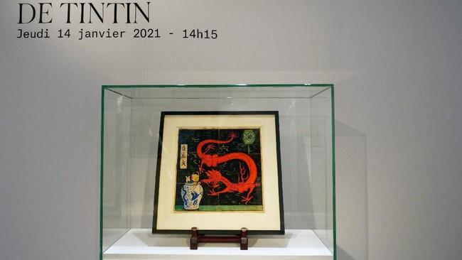 Lukisan Sampul Asli Komik Tintin Terjual Senilai Rp54 Miliar