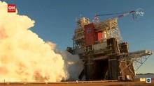 VIDEO: Uji Coba Mesin Roket NASA Bermasalah