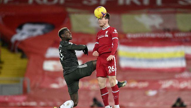 Pelatih Jurgen Klopp mengejek bintang-bintang Manchester United hanya bisa bertahan usai duel di Stadion Anfield, Minggu (17/1).