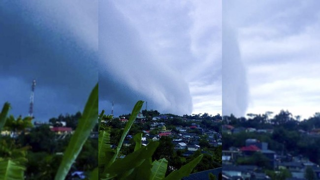 Awan Cumulonimbus Bak Tsunami di Ambon Tunda Pesawat Terbang