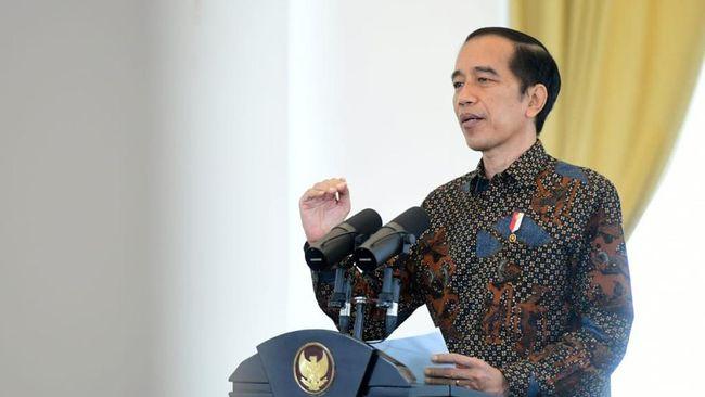 Jokowi mengatakan ada 5 sektor usaha yang tahan banting dari tekanan corona, yaitu, pangan, farmasi, rumah sakit, teknologi, jasa keuangan dan pendidikan.