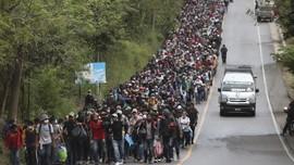 FOTO: Ribuan Migran Honduras Mengejar Mimpi ke Amerika