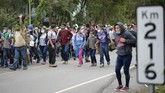 Rribuan orang meninggalkan Honduras menuju AS untuk mengejar kehidupan yang lebih baik di bawah kepemimpinan presiden terpilih Joe Biden.