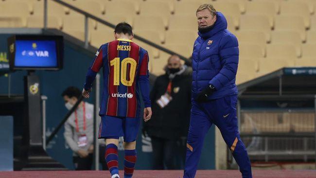 Barcelona tengah harap-harap cemas menanti hukuman kepada Lionel Messi atas kartu merah yang diterima di final Piala Super Spanyol.