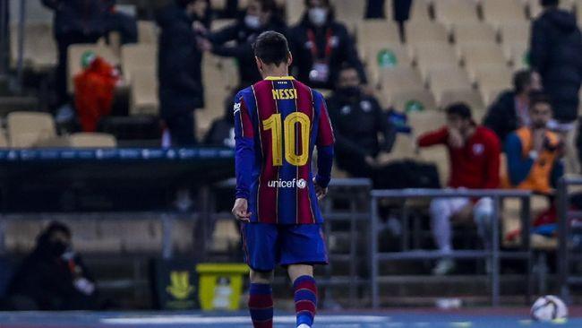 Lionel Messi gagal meraih gelar pada musim lalu di Barcelona, kini megabintang kawakan itu bisa jadi mengulang cerita kelam serupa.