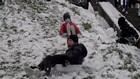 VIDEO: Warga Sambut Gembira Salju Turun di Kota Paris