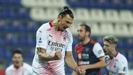 Hasil Liga Italia: Ibrahimovic Bawa AC Milan Tekuk Cagliari