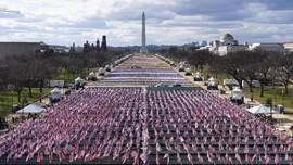 FOTO: Parade Bendera Meriahkan Pelantikan Joe Biden