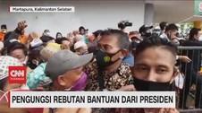 VIDEO: Pengungsi Korban Banjir Rebutan Bantuan dari Jokowi